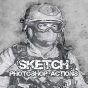 اکشن فوتوشاپ Sketch Photoshop Action