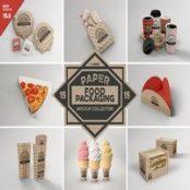 ماک آپ بسته بندی غذا VOL.15 Food Box Packaging Mockups