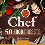 پریست لایتروم و فتوشاپ عکاسی از غذا Chef – 50 Food Presets