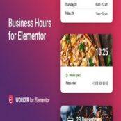 افزونه Business hours widget for Elementor – Worker