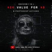 اکشن فتوشاپ Codetoform 3 in 1 Photoshop Action Bundle