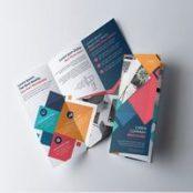 بروشور سه لت Colorful Geometric Tri-Fold Brochure Layout
