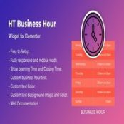 افزونه HT Business Hour Widget برای المنتور