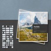 طرح پورتفولیو لایه باز Landscape Portfolio Layout