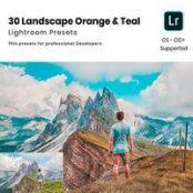 پریست لایتروم ۳۰ Landscape Orange & Teal Lightroom Presets