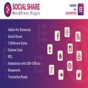 افزونه Social Share for Elementor برای وردپرس