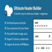 افزونه Ultimate Header Builder برای WPBakery Page Builder