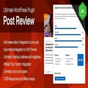 افزونه آلتیمیت پست ریویو Ultimate Post Review برای وردپرس