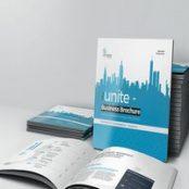 طرح بروشور مربعی Unite Square Brochure