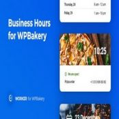 افزونه Business Hours for WPBakery – Worker addon