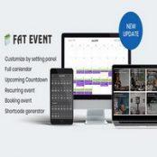 افزونه FAT Event برای وردپرس