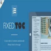 افزونه Fixed TOC برای وردپرس