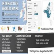 افزونه Interactive World Maps برای وردپرس