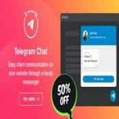 افزونه Telegram Chat برای وردپرس