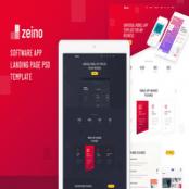 دانلود Zeino – Software App Landing Page PSD Template