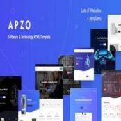 قالب HTML اپلیکیشن و نرم افزار Apzo