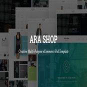 قالب Ara – Fashion Store Multipurpose PSD Template