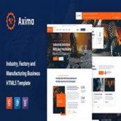 قالب HTML5 صنعتی Axima