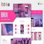 قالب HTML صفحه فرود BRIX