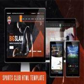 قالب HTML ورزشی BigSlam