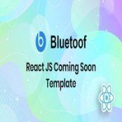 قالب React JS به زودی Bluetoof