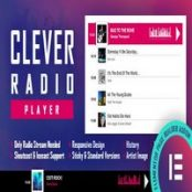 ادآن CLEVER – HTML5 Radio Player برای المنتور