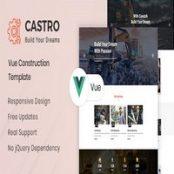 قالب Vue JS ساختمانی Castro