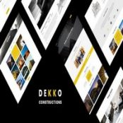 قالب HTML ساختمانی Dekko