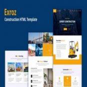 قالب HTML ساختمانی Exroz