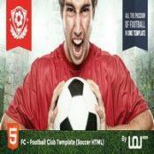 قالب HTML کلوب هواداری فوتبال FC