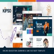قالب آموزش آنلاین Vue Nuxt آموزش مجازی Kipso