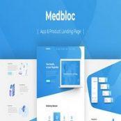 قالب PSD صفحه فرود Medbloc
