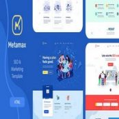 قالب HTML سئو MetaMax