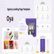قالب صفحه فرود شرکتی Oya