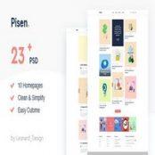 قالب PSD مینیمال وبلاگی Pisen