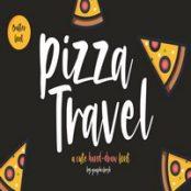 فونت انگلیسی Pizza Travel – Cute Brush Font