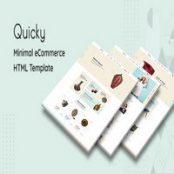 قالب HTML مینیمال فروشگاهی Quicky