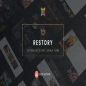 قالب کافه و رستوران Restory برای جوملا