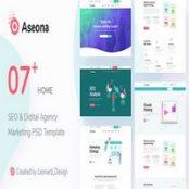 SeoMoz – قالب PSD سئو دیجیتال مارکتینگ