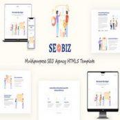 قالب HTML5 سئو Seobiz