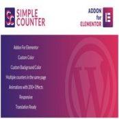 افزونه Simple Counter for Elementor برای وردپرس