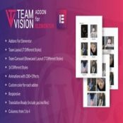 افزونه Teamvision for Elementor برای وردپرس