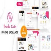 قالب HTML تجارت الکترونیک Trade Coin