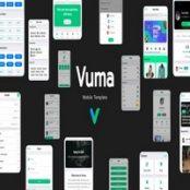 قالب اچ تی ام ال موبایل Vuma