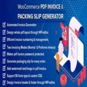 افزونه WooCommerce PDF Invoice & Packing Slip Generator