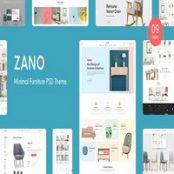 قالب PSD لایه باز Zano