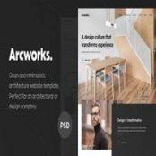 قالب Arcworks – Architecture Firm PSD Template
