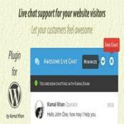 افزونه Awesome Live Chat – افزونه پشتیبانی و چت آنلاین وردپرس