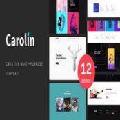 قالب Carolin – Creative Multi-Purpose PSD Template