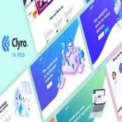 قالب Clyro – Isometric Agency PSD Template